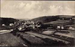 Postcard Herchen Windeck im Rhein Sieg Kreis, Blick über den Ort, Felder