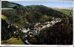 Postcard Bad Berneck im Fichtelgebirge Oberfranken, Blick von den Ruinen auf den Ort