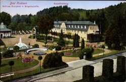 Ak Bad Kudowa Schlesien, Kapellenberg, Schloss, Kurpark, Eugenquelle