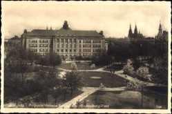 Ak Legnica Liegnitz Schlesien, Augusta Victoria Schule am Hindenburg Platz