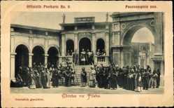 Ak Oberammergau, Passionsspiele 1900, Christus vor Pilatus