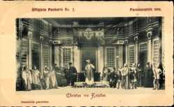 Ak Oberammergau, Passionsspiele 1900, Christus vor Kaiphas