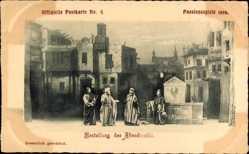 Ak Oberammergau, Passionsspiele 1900, Bestellung des Abendmahls
