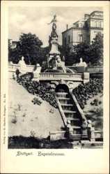 Postcard Stuttgart in Baden Württemberg, Blick auf den Eugensbrunnen
