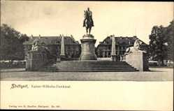 Postcard Stuttgart in Baden Württemberg, Partie am Kaiser Wilhelm Denkmal
