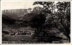 Postcard Bergen im Chiemgau Oberbayern, Gesamtansicht der Ortschaft