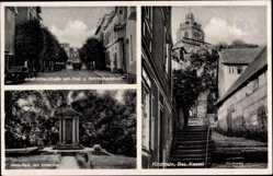 Postcard Kirchhain Bez. Kassel Hessen, Adolf Hitler Straße, Post, Anna Park