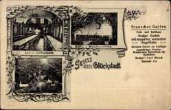Postcard Glückstadt an der Unterelbe, Franscher Garten, Musikpavillon, Saal