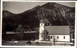 Foto Ak Kochel am See in Oberbayern, St Margareten Kirche, Walchensee