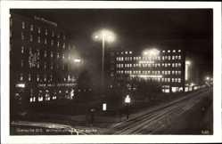 Ak Gliwice Gleiwitz Schlesien, Wilhelmstraße bei Nacht, Defaka
