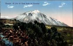 Postcard Teneriffa Kanarische Inseln Spanien, El Pico de Teide desde las Canadas