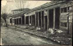 Postcard Monastir Bitola Mazedonien, Un via, Straßenpartie, Einfache Bauten