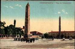 Postcard Constantinople Istanbul Türkei, Place de l'Hippodrome, Obelisk