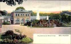 Postcard Bad Nauheim im Wetteraukreis Hessen, Die großen Sprudel
