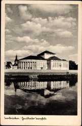 Postcard Saarbrücken im Saarland, Blick auf das Gautheater Saarpfalz