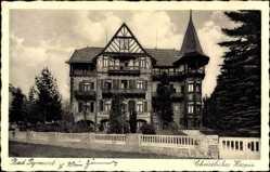 Postcard Bad Pyrmont in Niedersachsen, Blick auf Christliches Hospiz