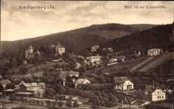 Postcard Elgersburg im Ilm Kreis Thüringen, Blick von der Schalkshütte auf den Ort