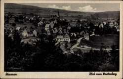 Postcard Rhaunen im Hunsrück, Blick auf den Ort und den Wartenberg