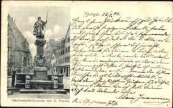 Postcard Stuttgart in Baden Württemberg, Nachtwächterbrunnen von A. Fremd
