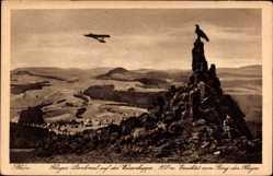Postcard Gersfeld in der Rhön in Hessen, Flieger Denkmal auf der Wasserkuppe
