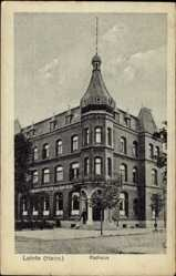 Postcard Lehrte in Niedersachsen, Blick auf das Rathaus, Ratskeller Robert Kittler