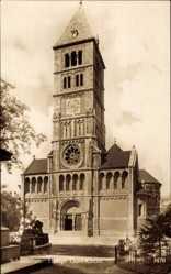 Postcard Schweinfurt in Unterfranken Bayern, Heilige Geist Kirche, Vorderansicht