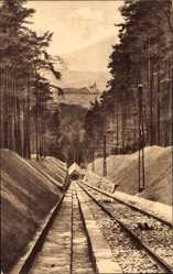 Postcard Baden Baden im Stadtkreis Baden Württemberg,Blick von Drahtseilbahn auf Stadt