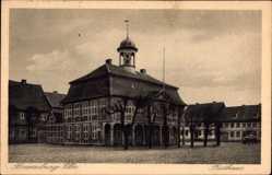 Postcard Boizenburg an der Elbe, Seitenansicht vom Rathaus