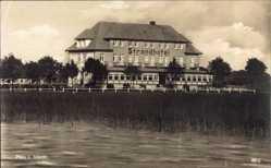 Postcard Luftkurort Plau am See, Strandhotel am Plauer See, Besitzer Heiden