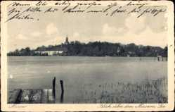 Postcard Mirow in Mecklenburg Vorpommern, Blick über den Mirower See