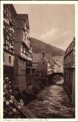 Postcard Monschau Montjoie in Nordrhein Westfalen, Partie an der Rur