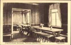 Postcard Tiefensee Werneuchen im Kreis Barnim, Jugendherberge Gamensee, Tagesraum