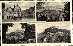 Postcard Kulmbach in Oberfranken, Ansicht vom Schloss, Brunnen, Gesamt