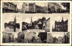 Postcard Borghorst Steinfurt in Nordrhein Westfalen, Kirche, Vorman, Rathaus
