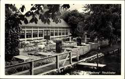 Postcard Neukloster Buxtehude im Kreis Stade, Gaststätte Seeburg, Biergarten