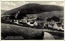 Postcard Steinbach Hallenberg im Thüringer Wald, Blick auf das Rathausviertel