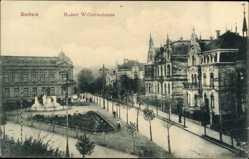 Postcard Bochum im Ruhrgebiet, Blick auf die Kaiser Wilhelm Strasse, Grünanlage