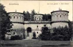 Postcard Luxemburg, Les trois glands, Drei Eicheln, Türme, Burgmauern