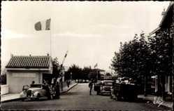 Ak Hendaye Pyrénées Atlantiques, Pont International, Frontière