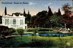 Postcard Konstantinopel Istanbul Türkei, Kiosque de Flameur, Villa, Teich