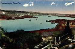 Postcard Konstantinopel Istanbul Türkei, Corne d'Ort, Goldener Winkel, Bosphorus