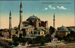 Postcard Konstantinopel Istanbul Türkei, Mosquée St. Sophie, Hagia Sophia