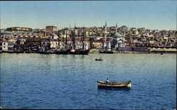 Postcard Konstantinopel Istanbul Türkei, Vue de Top Hané, Ruderboot, Stadtblick