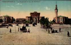 Postcard Konstantinopel Istanbul Türkei, Le Seraskerat et tour de Stamboul