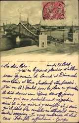 Postcard Budapest Ungarn, Ferencz Joszef Hid, Franz Josefs Brücke