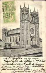 Postcard Fót Ungarn, Ansicht der römisch katholischen Kirche