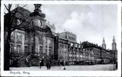 Ak Legnica Liegnitz Schlesien, Ring, Rynek, Markt, Rathaus, Ratusz