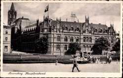 Ak Bydgoszcz Bromberg Westpreußen, Blick zum Hauptpostamt