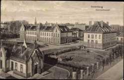 Ak Tschernjachowsk Insterburg Ostpreußen, Blick auf das Garnisonlazarett