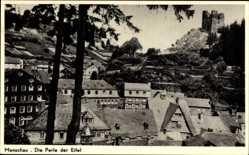 Postcard Monschau Montjoie in der Eifel, Blick über die Dächer der Stadt